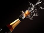champagne bottle eruption
